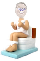 Man on toilet - custom bobble head doll