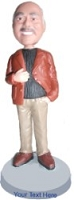 Business casual sporting a jacket and fashion pose custom bobble head doll