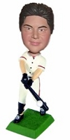 A swinging batter baseball custom bobble head doll