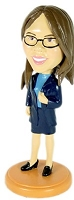 Office Lady  custom bobble head doll