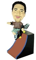 Skateboard custom bobble head doll