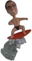 Surfs up  custom bobble head doll