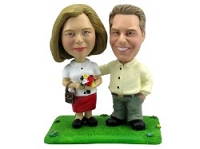 Happy couple personalized bobble head doll