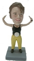 Female Wrestler Champ custom bobble head doll