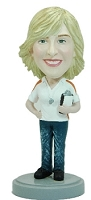 Female Coach custom bobble head doll