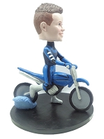 Man on Dirt Bike custom bobble head doll