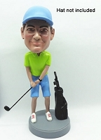 Golfer with bag custom bobble head doll 3