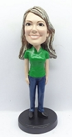 Casual Female custom bobble head doll 1