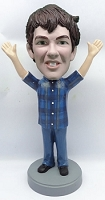 Male hands up custom bobble head doll 5