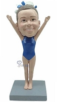 Gymnast custom bobble head doll