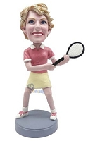 Tennis Lady 2 custom bobble head doll