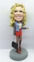 Shopping Girl custom bobble head doll 2