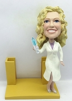 Business Card Holder - Nurse / Doctor personalized bobble head doll