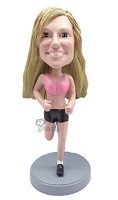 Female Runner custom bobble head doll 2
