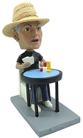 Poker Player personalized bobble head doll