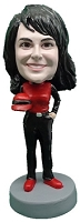 Female Race Car Driver custom bobble head doll