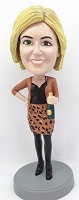 Women with Bottle custom bobble head doll 2