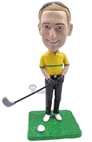 Golfer custom bobble head doll 5