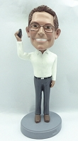 Supervisor Man on phone personalized bobble head doll3