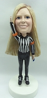 Lady Referee custom bobble head doll
