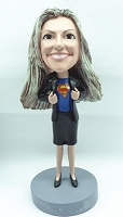 Girl in Business Attire - Super Employee custom bobble head doll