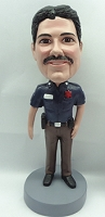 Police man personalized bobble head doll 4