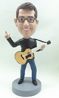Guitar custom bobble head doll  Acoustic