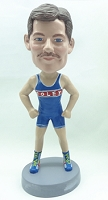 Runner personalized bobble head doll (Male) 2