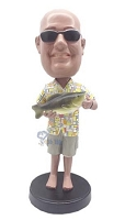 Man with Fish custom bobble head doll  2
