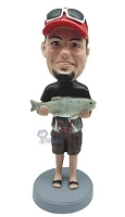 Man with Fish custom bobble head doll 3