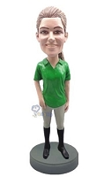 Equestrian custom bobble head doll