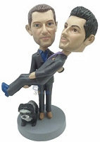 Same Sex Carrying Male couple custom bobble head doll