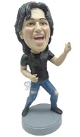 Air guitar custom bobble head doll