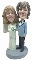 Dressed Up couple custom bobble head doll  Wedding