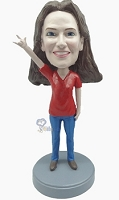 Casual Female Rocker hands custom bobblehead7