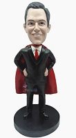 Super boss with cape custom bobble head doll