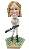 Baseball Gal Batter custom bobblehead