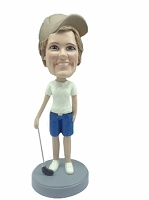Golfer custom bobble head doll 10 Female