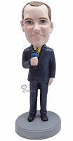 Microphone male custom bobble head doll 2