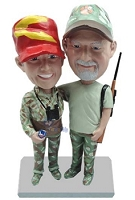 Hunting couple custom bobble head doll