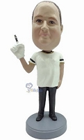 #1 Fan custom bobble head doll 3