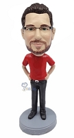 Casual custom bobble head doll 17
