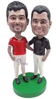 Same Sex Baseball Male couple custom bobble head doll