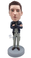 Police man personalized bobble head doll 6