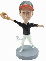 Baseball Catching custom bobblehead2