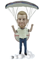 Parachute custom bobble head doll