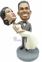 Wedding couple custom bobble head doll carry