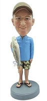 Man with Fish custom bobble head doll 4