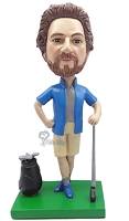 Golfer custom bobble head doll 6
