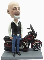 Motorcycle Man custom bobble head doll 5